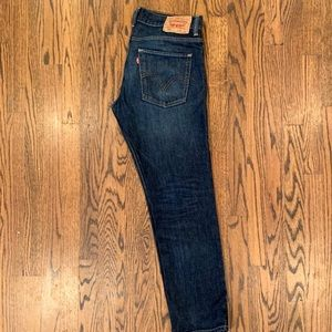 Levi's 511 dark rinse red tag jeans. 32x30